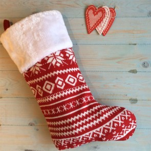 Nordic Knitted Stocking