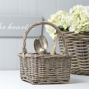 Grey Willow Cutlery Basket