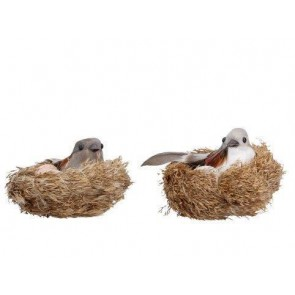 Clip On Birds Nest Decoration