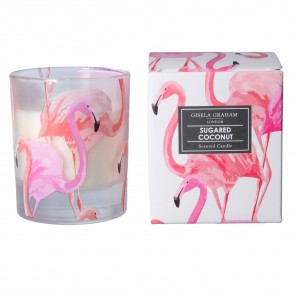 Scented Pink Flamingo Boxed Candle: Sugared Coconut