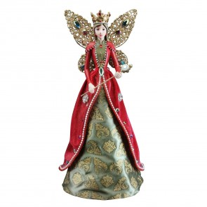 Regal Jewel Embellished Angel Tree Topper - Large