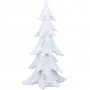 White Frosted Tree Ornament