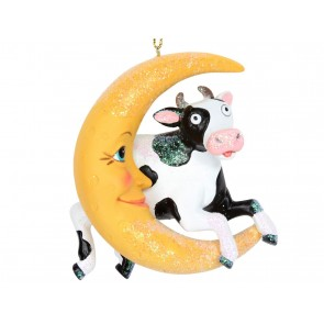Resin Decoration 8cm - Cow Jumps Over the Moon