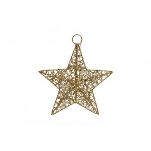 Small Gold Wire Mesh Star Decoration