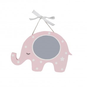Pink Wood Polka Dot Elephant Picture Frame