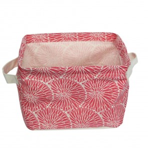 Pink Flower Storage Tub