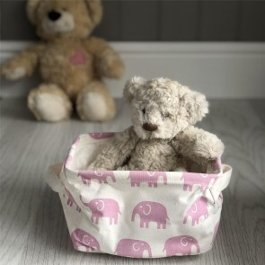 Pink Elephant Storage Tub - Small