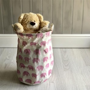 Pink Elephant Storage Tub - Large