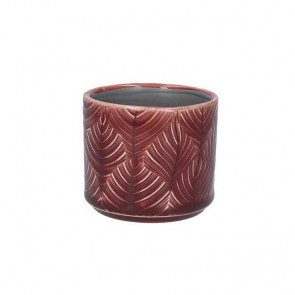 Mini Berry Leaf Ceramic Pot Cover