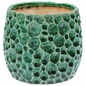Green Crater Plant Pot Cover - Large