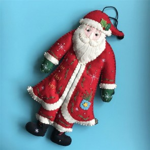 Large Felt Santa Decoration