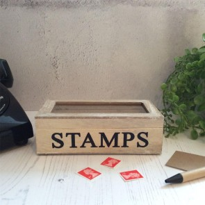 Stamps Natural Wooden Box