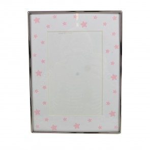"Pink Stars Picture Frame - 4""x6"""