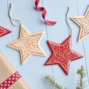 Handpainted Star Christmas Decorations
