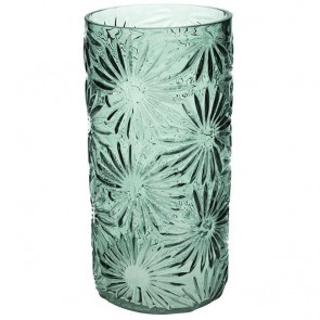 Green Daisy Straight Vase Large