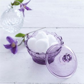 Purple Glass Trinket Pot