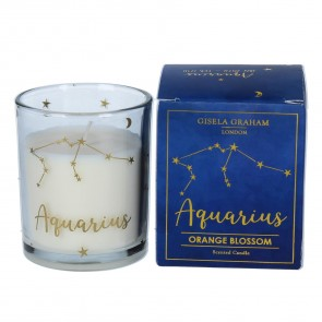 Zodiac Gold Foiled Scented Candle - Aquarius
