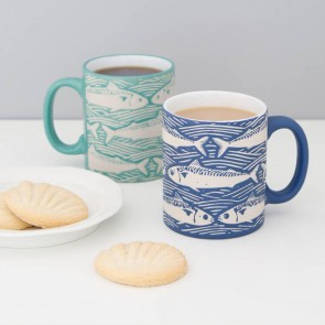 Nautical Fish Mugs