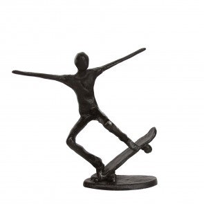 Iron Skateboarder Ornament