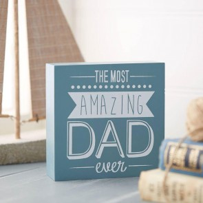 Amazing Dad Wooden Sign