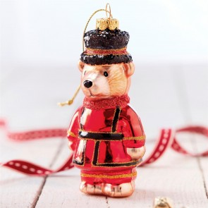 Glass Beefeater Teddy Bauble
