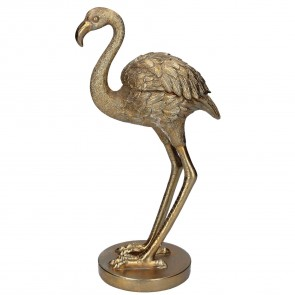 Gold Flamingo Trinket Holder Ornament