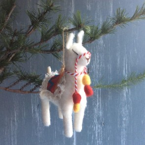 Wool Llama Christmas Decoration