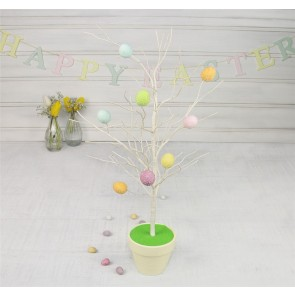 Pastel Easter Egg Twig Tree In Pot