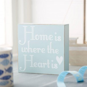 Home Is Where The Heart Is Wooden Sign