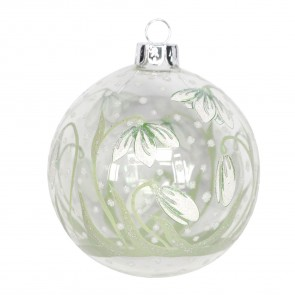 Clear Snowdrop Bauble