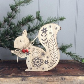 New England Squirrel Ornament