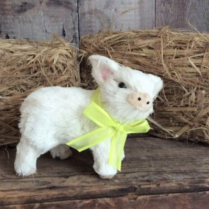 White Bristle Piglet Easter Decoration