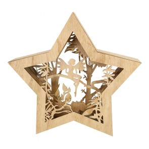 Light Up Woodland Fairy Star