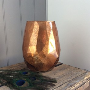 Copper Abstract Candle Holder