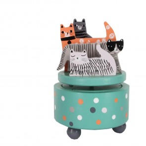 Cats Spinning Music Box