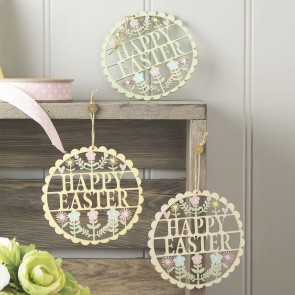 Happy Easter Fretwork Decorations