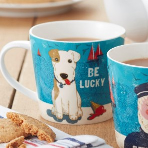 Nautical Be Lucky Terrier Mug
