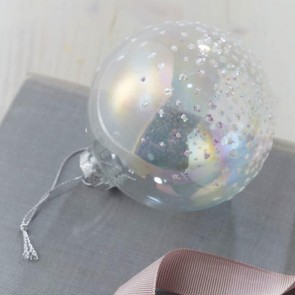 Soap Bubble Bauble With Snow