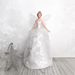Iridescent Snowflake Fairy Tree Topper - Small