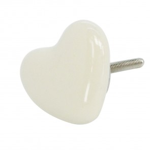 Cream Heart Drawer Knob