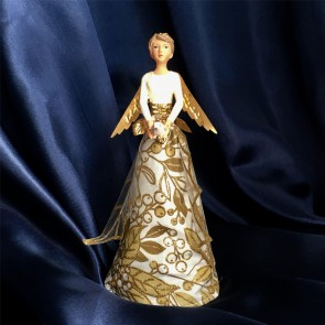 Gold & Cream Holly Tree Topper - Small