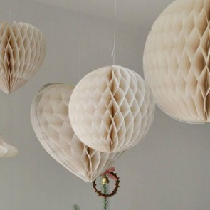 Ivory Paper Ball Decoration - Small
