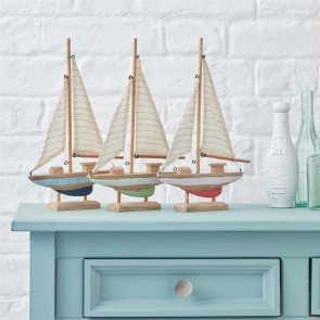 Wooden Boat Ornaments