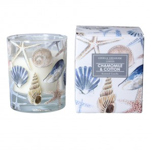 Shells Scented Boxed Candle - Chamomile and Cotton