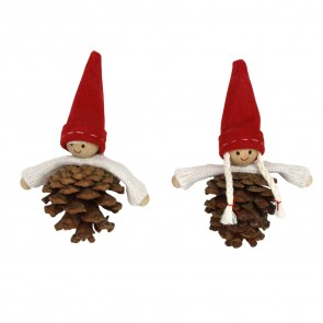 Set Of Two Cone Nordic Mini People