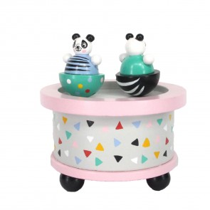 Panda Spinning Music Box