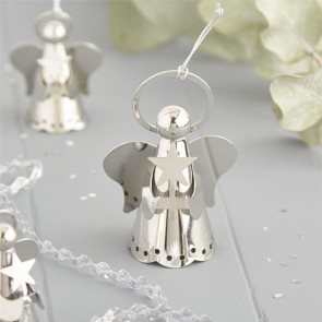 Silver Angel Christmas Decoration - Large