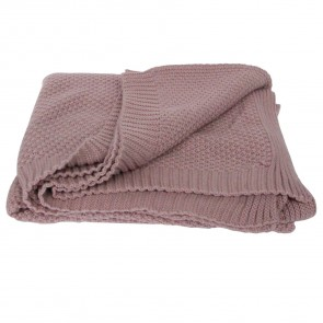 Pink Knitted Throw
