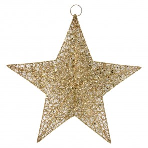 Large Gold Wire Mesh Star Decoration
