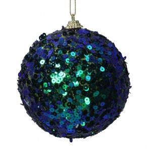 Ball Decoration (10cm) - Peacock Sequin